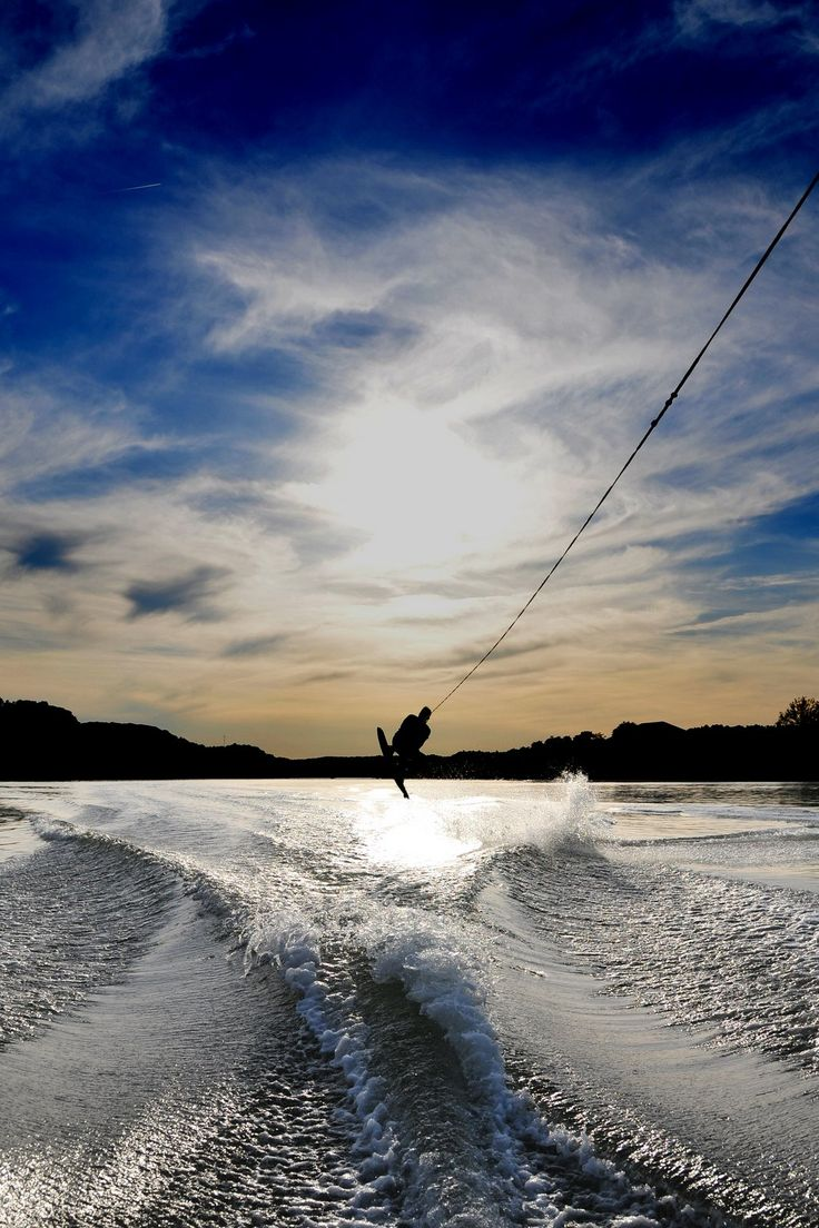 Jumping the wake - http://www.sma-summers.com/camp-activites/water-sports/wakeboarding---waterskiing/