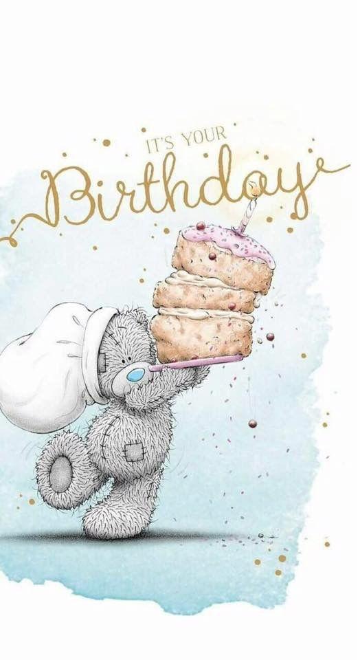 Открытка днем рождения мишка тедди