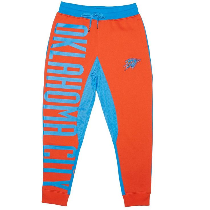 Men's Unk Oklahoma City Thunder Speckled Fleece Jogger Pants, Size: Medium, Light Blue