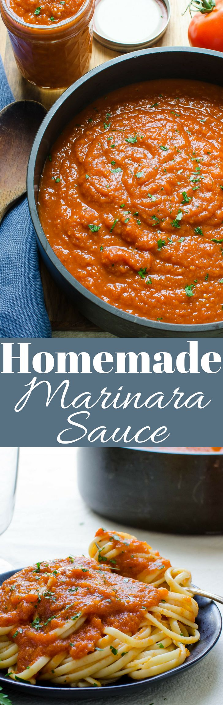 Here's how to make a homemade marinara sauce instead of buying jarred sauces. No fillers or preservatives, just healthy vegetables and lots of flavor!