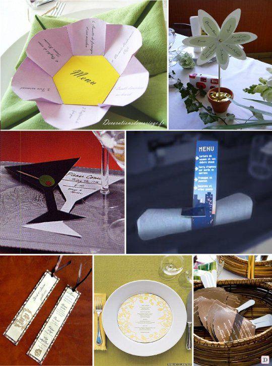 17 best images about id es pr sentation menu mariage on. Black Bedroom Furniture Sets. Home Design Ideas