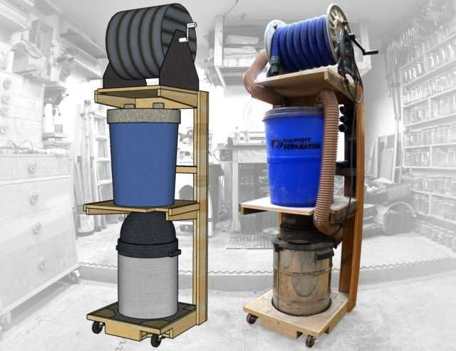 Space Saving Shop-Vac Dust Collector Cart - Imgur