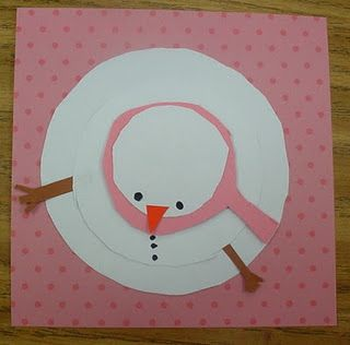Cute Idea 4 Kids 2 Make Paper Snowmen...people...whatevs...a new perspective- My snowman