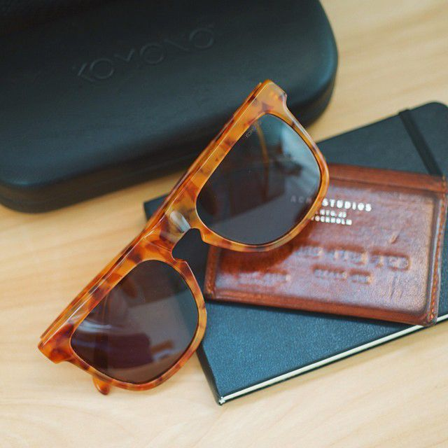 The Komono Crafted Bennet in Caramel Demi Italian Acetate.
