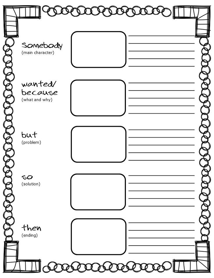 Free Printable Somebody Wanted But So Then Graphic