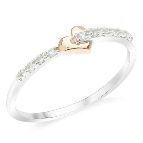 KAYA, Srebrny pierścionek, obrączka z topazami BRACCATTA
