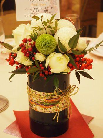 「和風 結婚式 花」の画像検索結果