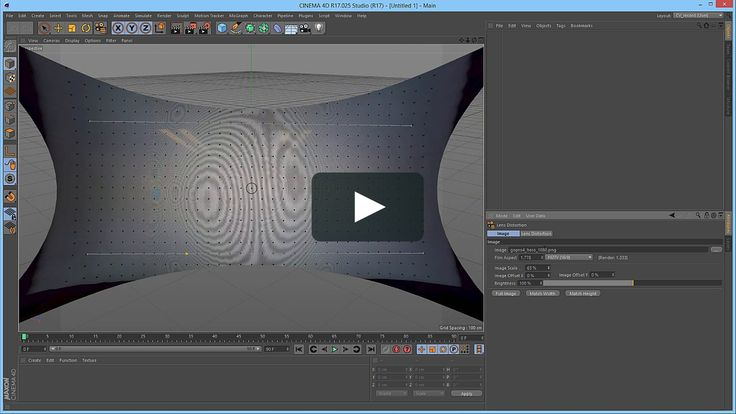 New in Cinema 4D Release 17 Quickstart: Lens Distortion Tool for Undistorting Wide Angle Footage on Vimeo