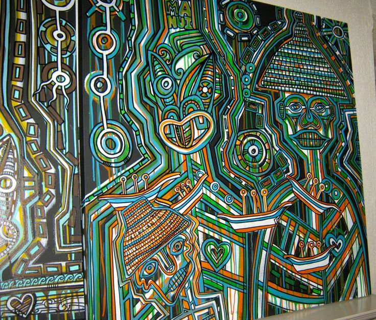 Tawera Tahuri Acrylic on Canvas