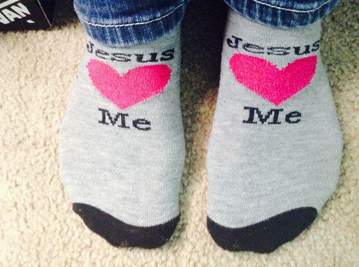 Jesus Loves You Socks :) - 56 Best SOCKS ❤ Images On Pinterest