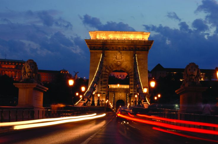 My grandpa once told me a magical story... When he was a child, his father told him that this Budapest bridge was pulled through the arches and into the mountain every night....