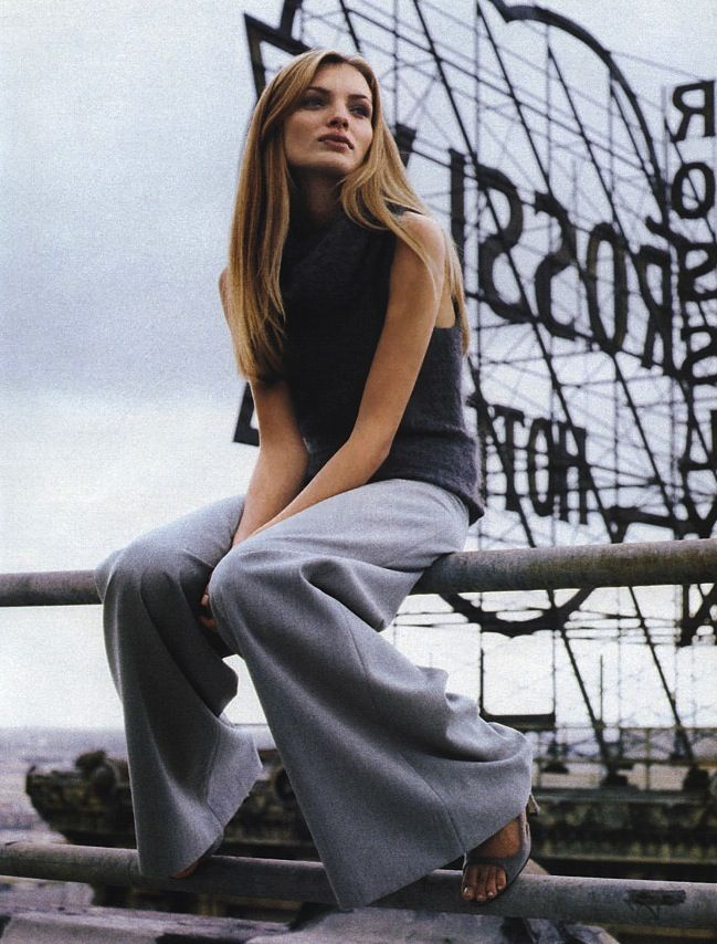 """birdcagewalk:    editorialarchive:""""Grey Matters"""": Esther Cañadas photographed by Pamela Hanson for Marie Claire, September 1998"""