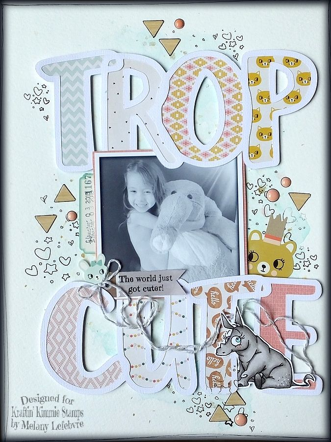 Asokascrapper - Scrapbooking page - Kraftin Kimmie Stamps - Paper Issues Free Cut File - Crate Paper