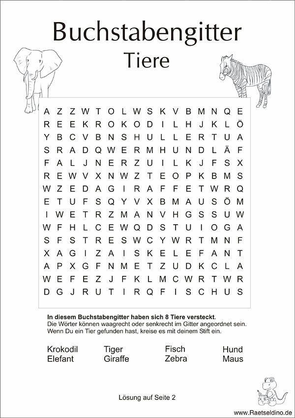 Buchstabengitter Mit Tiere In 2020 Learn German German Language Learning Elementary Schools
