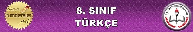 2015-2016 8. Sınıf Türkçe 2. Dönem 1. Yazılı   Tüm Dersler