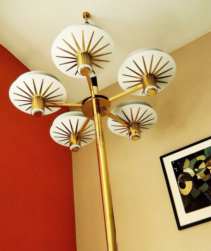 Most unique MCM tension pole lamp yet!