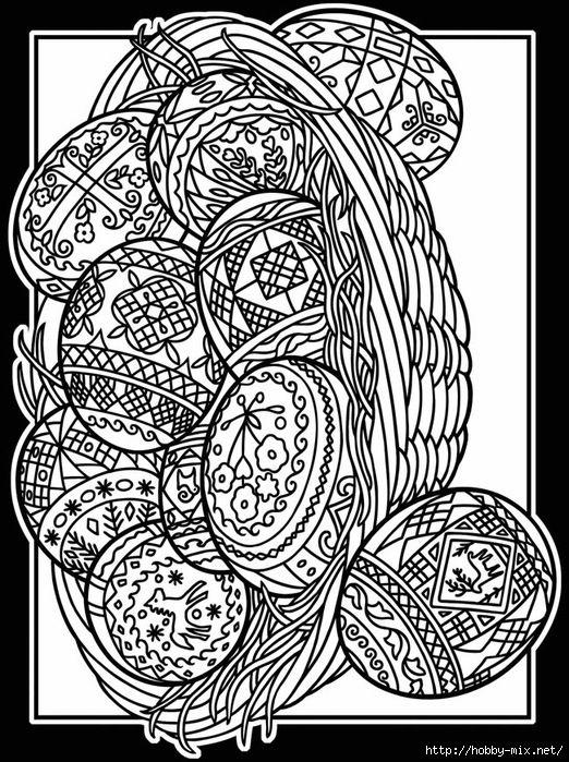 Gallery.ru / Фото #1 - Шаблоны для раскраски пасхальных яиц. - Vladikana