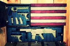 Deluxe Home Defense Concealment Flag Model ( Dual Handgun and Rifle Compartments) - Rough Country Rustic Furniture & Decor