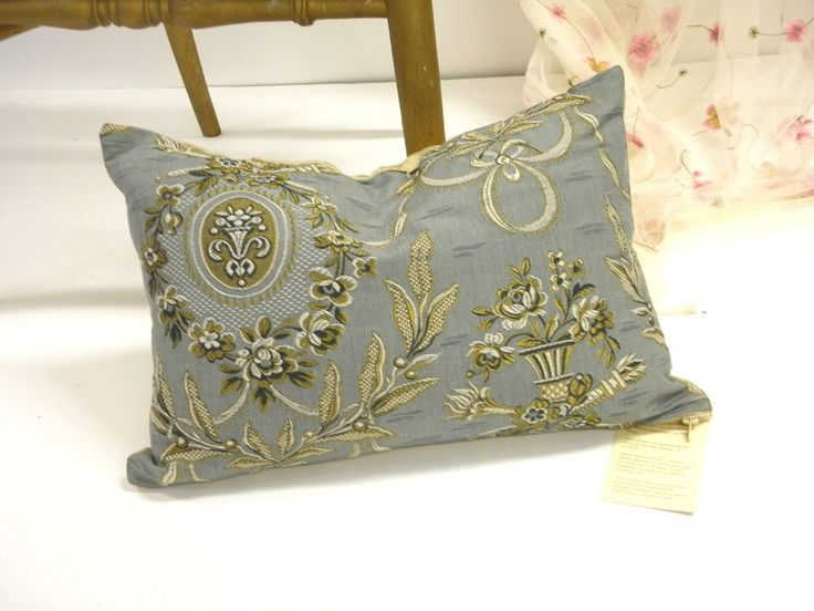 Pillow case original classic style light silver blue grey medallion home decor small cushion cover 19th century vintage fabric upholstery  by ClassyInteriorsDeco on Etsy https://www.etsy.com/listing/67688848/pillow-case-original-classic-style-light