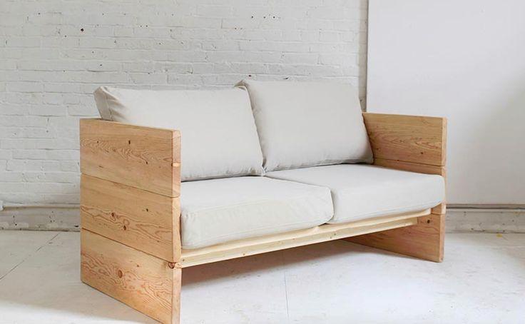 Neue DIY Idee. Ein schlichtes und stylisches 2er-Sofa. Bei dem Wetter auch perfekt für den Garten. Hier gehts zur Anleitung. #Designer #love #diy