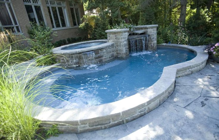 Various Semi Inground Pools To Inspire Your Exterior Design Ideas: Captivating Semi Inground Pools With Rock Landscaping And Installations