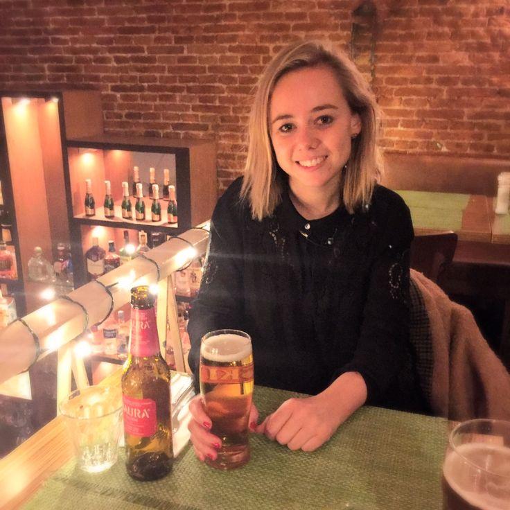 gluten-free menu and bier in cafe piazza