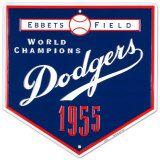 Dodgers-1955 Placa de lata