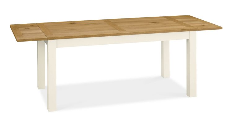 Hampshire Oak 6-8 Double End Extension Dining Table - 165-245cm in a classic warm look with a dimension of Width:165cm, Height:75cm, Depth:80cm. available in two finishes oak & Two Tone. Price: £ 489.95. Click on to http://solidwoodfurniture.co/product-details-oak-furnitures-5253-hampshire-oak-double-end-extension-dining-table-cm.html