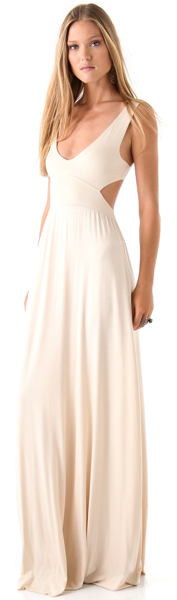 Long cut out maxi dress