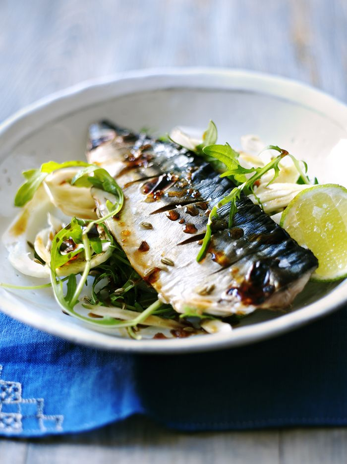 Tangy, salty and rich - grilled mackerel is an easy summer barbecue option that takes minutes!