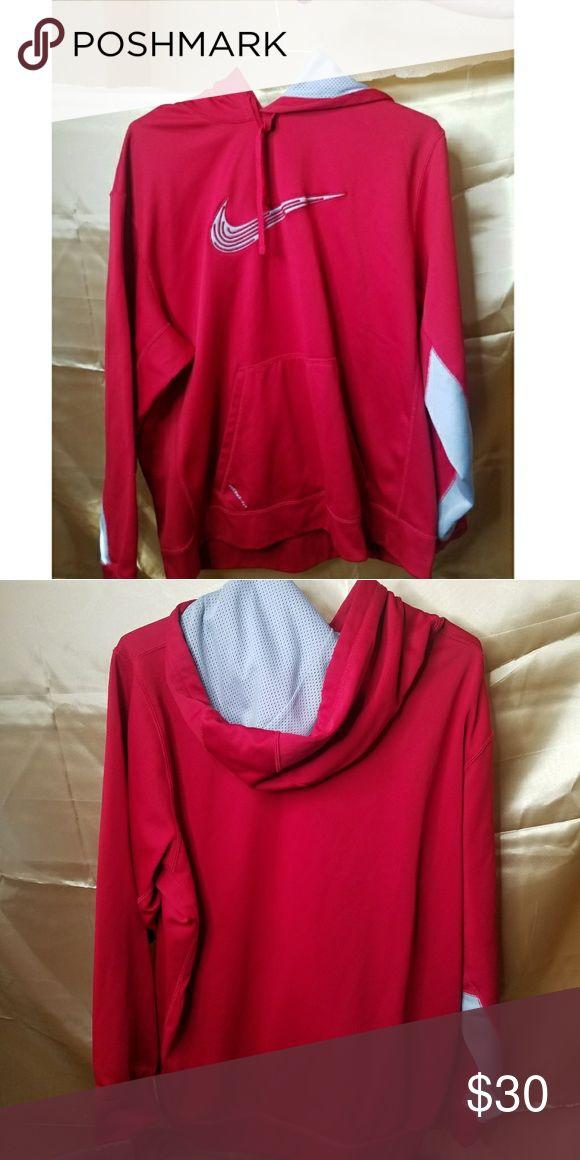 Red NIKE Hoodie Red hoodie. Great condition. Nike Shirts Sweatshirts & Hoodies