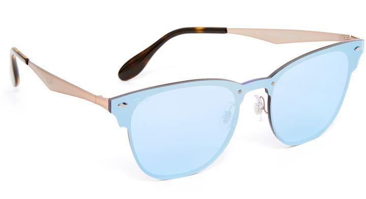 Ray-Ban Wayfarer Flat Mirrored Sunglasses