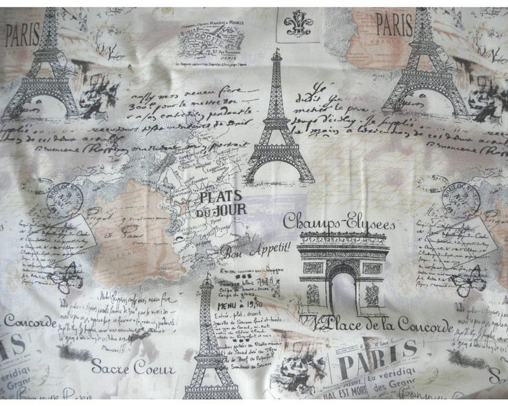 Párizs mintás pamut vászon | Textilpont lakástextil Webáruház