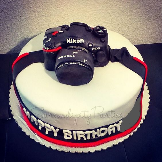 Birthday Cake Images For Camera : Nikon Camera Birthday Cake Incredible Cakes , Cookies ...
