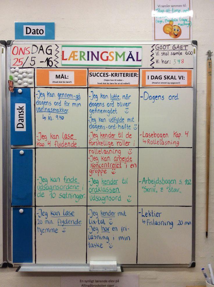 Dagens læringsmål i dansk i 3. klasse