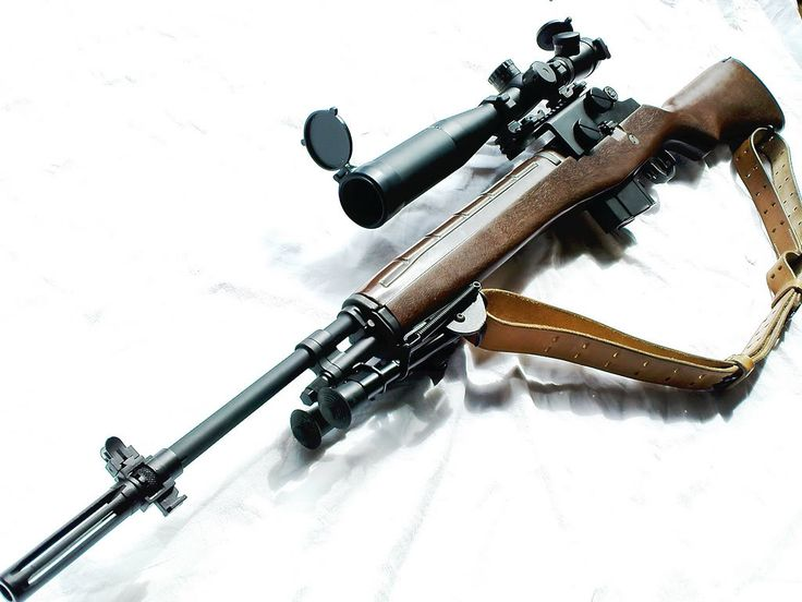 m14  This would be my first choice for a long range zombie apocalypse weapon. Good for urban overwatch too.
