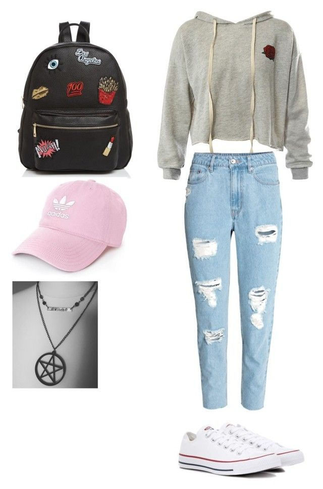 """Untitled #16"" by alexia-nistor on Polyvore featuring Sans Souci, Converse, Ollie & B and adidas"
