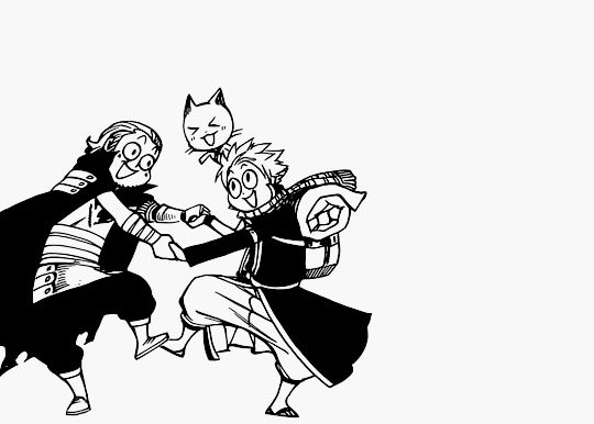 Fairy Tail Obsessed- I love Natsu and Gildarts in this picture
