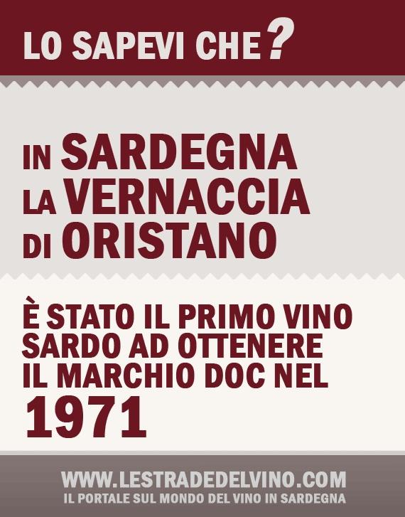 Lo sapevi che? La Vernaccia di Oristano è stato il primo vino Sardo ad ottenere il marchio DOC. www.lestradedelvino.com !