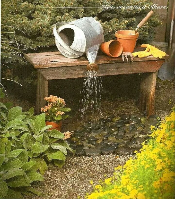 Creative fountain waterfall garden water features for Jardin pour vous