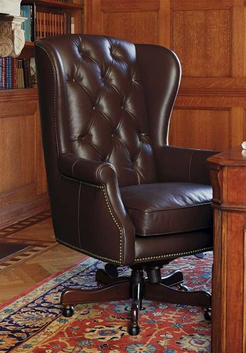 Reboot Your Workspace With A Handsome Executive Office Chair.  Button Tufted, Top Grain Leather Imparts Luxurious Confidence, While The  Solid Wood Frame And ...