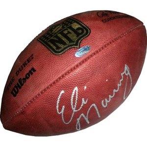 New York Giants, Autographed Eli Manning NFL Duke Football Reg. $599.95 Sale: $477.99
