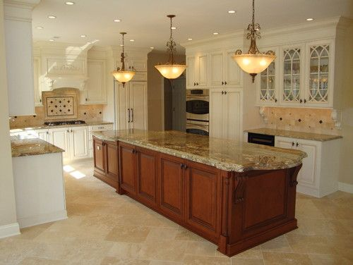 Best White Cabinets Travertine Images On Pinterest Home