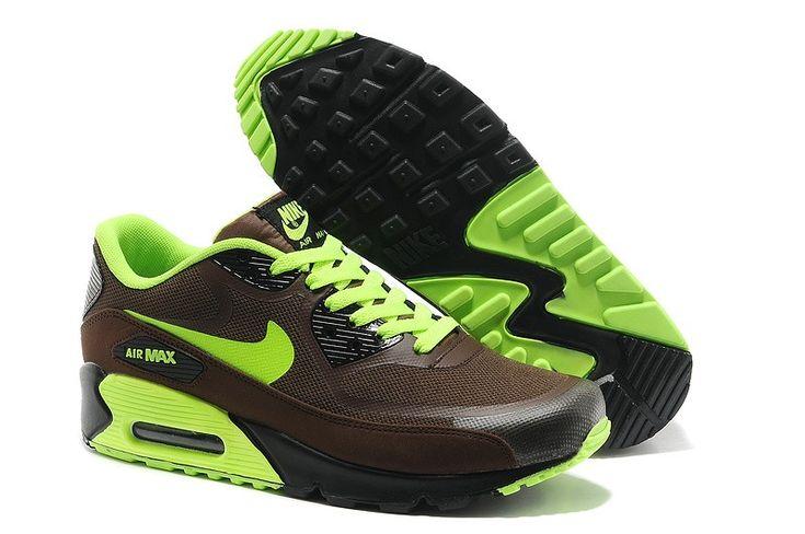 Buy New Nike Air Max 90 Premium Tape Mens Brown Black Volt ShoesDiscount