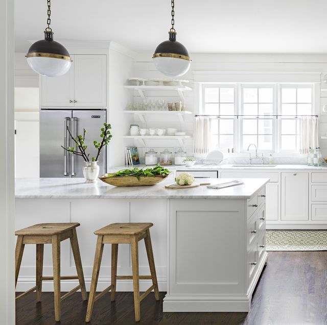 Download Wallpaper All White Kitchen Pictures