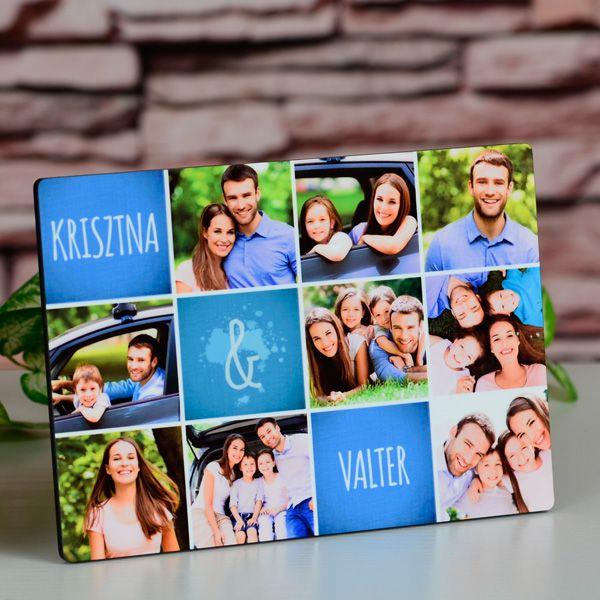 Fényképes fotópanel 9 képpelStílusos és modern képkeret, melyen 9db egyedi fénykép helyezhető el. Nevekkel kiegészítve még személyesebbé tehető, mely tökéletes ajándék lehet családunknak, szeretteinknek, kedvesünknek. A fotópanel anyaga fa, felülete fényes, mérete 17,7x13cm, vastagsága körülbelül 6mm.