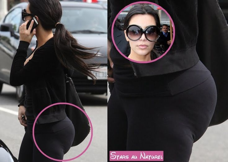Kim Kardashian with cellulite and a silicon implant looking backside... sorry but that looks so fake!