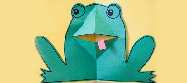 pop-up frog card