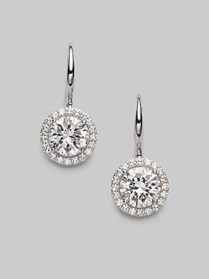 Adriana Orsini Sterling Silver Round Drop Earrings…
