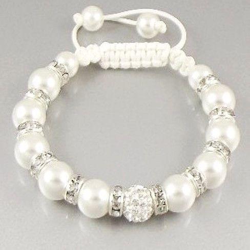 Shamballa bracelet,handmade bracelet,Austrian crystal Shamballa bead Bracelets,Pearl beads bracelet,Boho Chic Pearl Bracelet,Shabby Chic Jewelry,Wedding bead bracelet